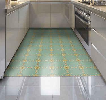 Donnez à votre cuisine une cure de jouvence nécessaire aujourd'hui avec ce tapis en sticker de cuisine à fleurs. Facile à nettoyer et à balayer