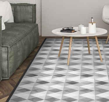 émerveillez-vous et votre famille aujourd'hui avec ce produit de tapis en sticker géométrique de montagne gris au look cool et améliorez votre maison!