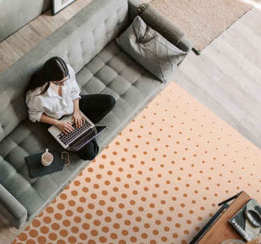 Descubre esta maravillosa alfombra vinilo geométrica con topos de diferente tamaño. Ideal para tu salón o dormitorio ¡Envío gratuito!