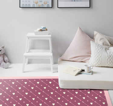 How much do you love polka dots?. If you are a lover then this Polka dot  with heart pattern vinyl carpet would be pleasing to you.