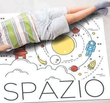 Perché non decorare la tua casa con questo fantastico tappeto spaziale? Facci sapere le tue esigenze e faremo del nostro meglio per realizzarlo!