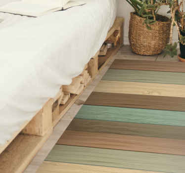 Increíble alfombra vinilo textura madera con tablones tono pastel para que decores tu dormitorio de forma original y sobria ¡Envío exprés!
