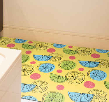 Order this fruit vinyl rug product today and have it at your home in just a few days! Easily washable using water and regular soap!