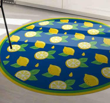 ¡Pida hoy mismo esta alfombra vinilo cocina de limón para decorar su casa! ¡Entrega a domicilio en pocos días si pides este diseño ahora!