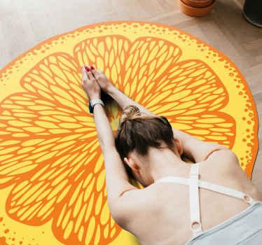 ¡Compre hoy esta alfombra vinilo cocina de naranja en forma redonda! Este producto se puede lavar y limpiar fácilmente ¡Entrega a domicilio!