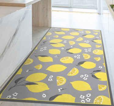 这种黄色的柠檬乙烯基地毯微妙而明亮,可以照亮任何房间。选择不同的尺寸以适合您的需求。容易清洁!
