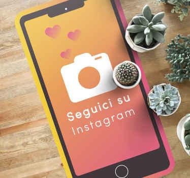 Il suo tappeto in vinile personalizzato per telefono instagram creerebbe l'illusione di una pagina instagram del telefono nello spazio.