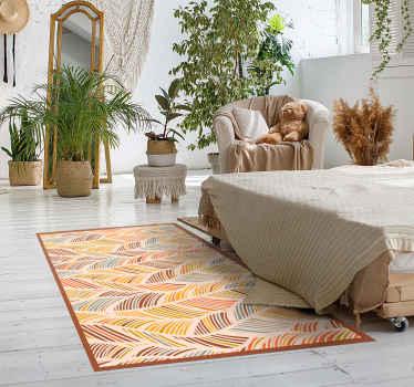 šis dizainas atrodytų visiškai nuostabiai jūsų namuose! Kodėl gi šiandien neužsisakius šio gražaus šiaurinio stiliaus lakštinio vinilo kilimo!