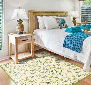 ¿Busca una manera rápida y fácil de agregar un símbolo elegante a su dormitorio o sala de estar? ¡Esta alfombra vinilo nórdica de hojas es suya!
