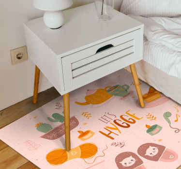 Order this cool and cute stylish vinyl rug product today and give yourself the feeling of hygge! Comes anti-slip and anti-allergic. Get it tonight!