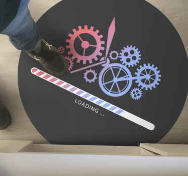 Loading clock cog custom rug - This carpet would be nice on any space it is placed on. Perfect for bedroom, living room, office and other spaces.