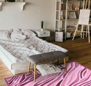 Dit schattige vinyl vloerkleed met dierenprint in een gestreept design van zebravormen in roze tinten zal elke kamer opvrolijken! Bestel hem nu!
