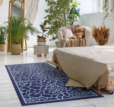 Kijk naar onze blauwe vinylvloeren voor de slaapkamer met giraffen en bedenk hoe abstract het leven is. Wacht niet langer en bestel hem nu!