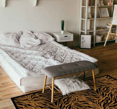 Decorative vinyl floor carpet with design of  tiger prints. Our carpets are original, durable and made with the best of quality vinyl on the market.