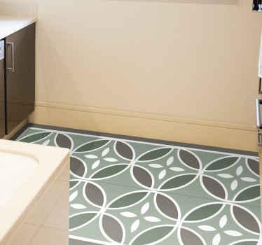 Groen vinyl tapijt van beija-tegels om uw vloeroppervlak te versieren met een klassieke uitstraling en effect. Bestel hem nu!