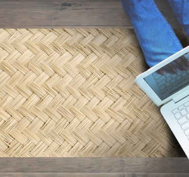 Enjoy  the nature of our original design on living room flooring with this thatched style of this vinyl rug.Buy now! Home Delivery