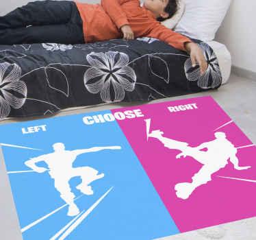Scegli da che parte stare con questo fantastico tappeto per bambini fortnite! Non aspettare oltre e acquista subito il nuovo tappeto dei tuoi bambini!