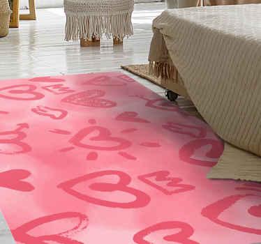 Quanto amore porterai a casa tua con questo fantastico tappeto a forma di rettangolo! è realizzato in vinile della migliore qualità.