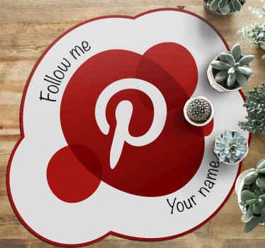 Follow me on Pinterest custom rug - Our range of office and business floor vinyl carpet offers you design for all your social media handles.