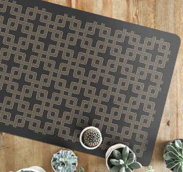 Squares chained mosaic floor tiles -Bring this piece on your space to improve it with a lovely look . It fits to decorate as an entrance carpet, etc.
