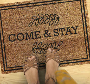 Amazing and Elegant Welcome mat come and stay, perfect for your living room, bedroom, home entrance, terrace. With home delivery