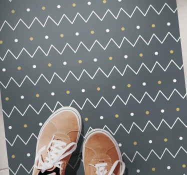"""Elegant en lieflijk vinyl tapijt """"scandinavisch geometrisch patroon"""". Wacht niet langer en bestel hem vandaag nog! U krijgt geen spijt!"""