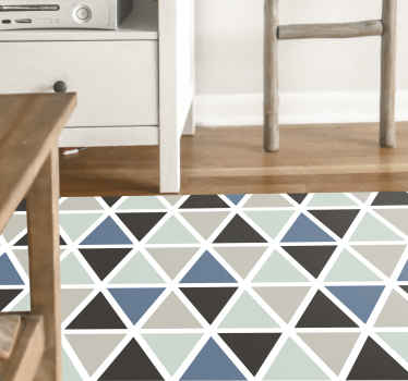 Amazing geometric vinyl runner rug ideal for home and office  decoration. 