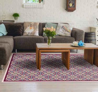 Decora ahora tu casa con esta alfombra vinilo floral multicolor y da vida y color a tu casa ahora. Material de primera calidad ¡Envío exprés!