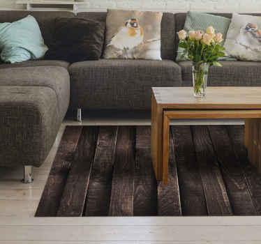 Alfombra vinilo madera natural con diseño de tablones de madera vintage es perfecta para decorar tu sala de estar, cocina, comedor o cualquier lugar.