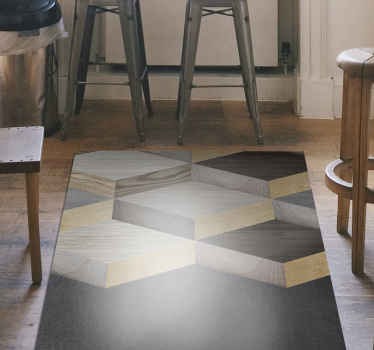 Compra ahora esta increíble alfombra vinilo textura tablones de madera en 3D para decorar tu casa ¡Elige tus medidas! ¡Envío exprés!