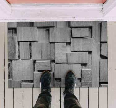 Alfombra vinilo textura piedras muy elegante que realmente le dará a tu casa mucha más energía! Diseño original ¡Elige medidas!