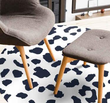 Obtén esta increíble alfombra vinilo animal print de leopardo blanco y negro para decorar tu comedor, dormitorio y salón ¡Elige tus medidas!