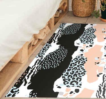 ¿Quieres tener una decoración elegante en tu casa? ¡Entonces esta alfombra vinilo animal print de patrón leopardo moderno es tuya!