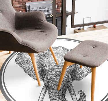 Una alfombra vinilo animales de elefante: imagine el aire y la impresión que este diseño creará en un casa ¡Descuentos disponibles!