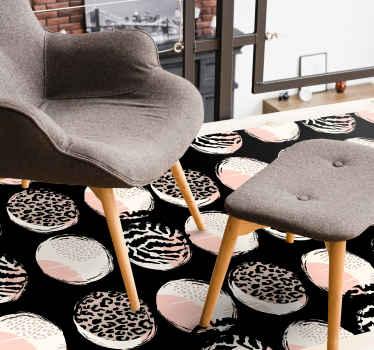 Disfruta de nuestra alfombra vinilo animal print geométrica de leopardo en tu lugar. Elige tus medidas ¡Descuentos disponibles!
