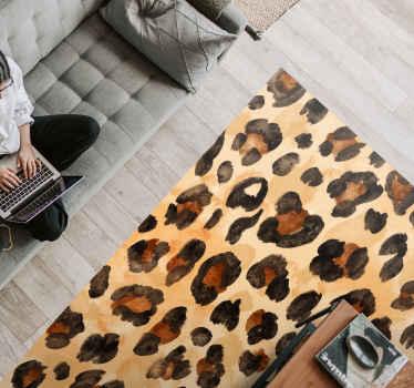 Alfombra vinilo animal print de piel de guepardo: seguro que te encantará este diseño en el lugar de tu hogar ¡Descuentos disponibles!