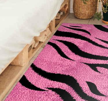 Alfombra vinilo animal print de piel de tigre rosa para agregar un aspecto y efecto encantador en su hogar u oficina ¡Elige tus medidas!