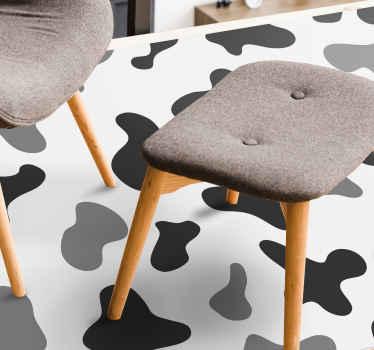 Dit vinyl vloerkleed met dieren is geïnspireerd op een koe en de mooie patronen. Wacht niet langer en bestel dit geweldige design vandaag!