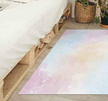 Take a look at this teens vinyl rug which comes from our new collection of splash colours. It is a rectangular shape with pastel colours all over it!