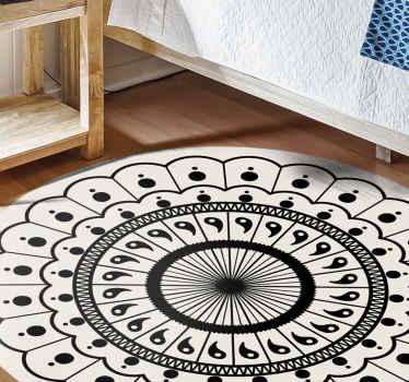 Tapis de chambre à coucher circulaire boho mandala - tapis de sol très élégant pour décorer les espaces communs. Parfait au salon, dans un  bureau, ...