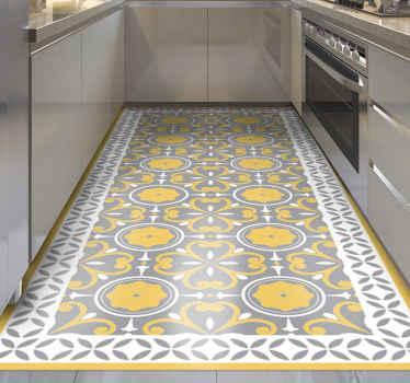 Alfombra vinilo hidráulica de patrón pantone para decorar su cocina u otro lugar del suelo con un aspecto clásico ¡Envío exprés!