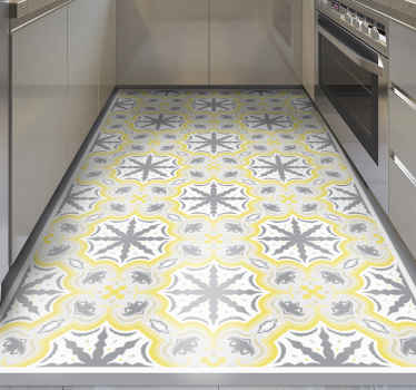 Alfombra vinilo  de colores pantone para cocina, baño, comedor, pasillo, etc. El tamaño es personalizable, fácil de limpiar y duradera.