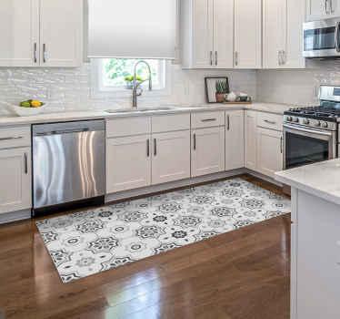 Alfombra vinilo hidráulica de azulejos pantone gris: se puede colocar en el lugar del baño, la sala de estar, el comedor y cocina ¡Envío exprés!