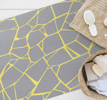 Un covor de podea din vinil cu design galben abstract. Ar fi frumos să decorați orice spațiu din podea în casă și, de asemenea, potrivit pentru orice alt spațiu.
