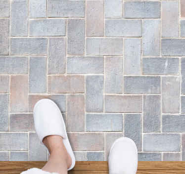 Alfombra vinilo textura con el diseño de pura roca con efecto azulejo ideal para usar en el suelo de tu cocina, comedor o cualquier otro lugar.