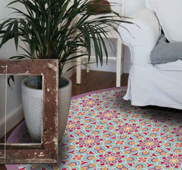 Dywan winylowy w mandalę w greckie kształty do swojego domu i ciesz się wyglądem i efektem, jaki dodaje do Twojej przestrzeni. Dostawa do domu!