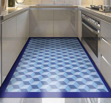 Present any space in a house with this beautiful 3D cubes tile carpet and see how amazing the space would turn out. Original, anti-slip, easy to clean