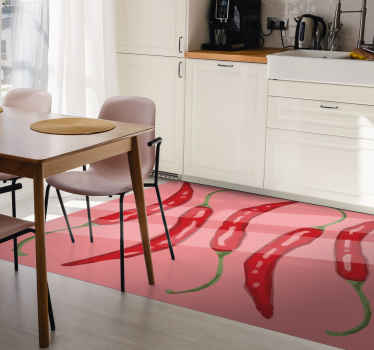 This funny red kitchen floor tile with five chili will suit perfectly your kitchen. What a good idea, right? We will be happy to add you as new client