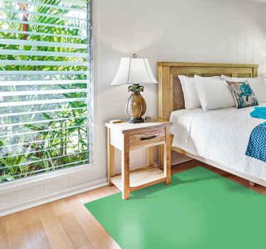 Alfombra vinilo rectangular verde para que decores cualquier estancia de tu casa o negocio con tu color favorito ¡Elige las medidas!