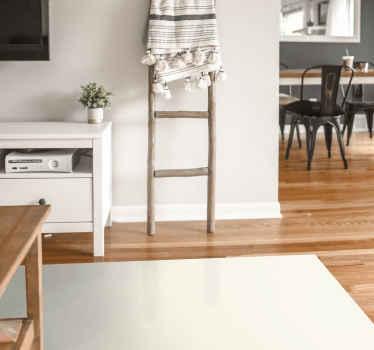 Alfombra vinilo rectangular color crema y da frescura a tu hogar. Decora tu casa con tu color favorito ¡Fácil de mantener!